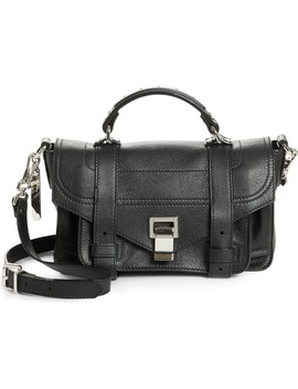 Tiny Ps1 Grainy Leather Satchel by Proenza Schouler