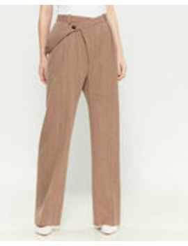 Asymmetrical Button Trousers by Jil Sander