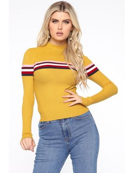 On The Move Sweater   Mustard by Fashion Nova