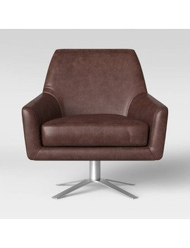 Tierman Swivel Chair With Metal Base   Project 62™ by Project 62