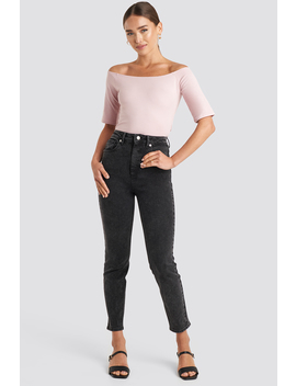 High Waist Skinny Fit Jeans Sort by Na Kd Trend