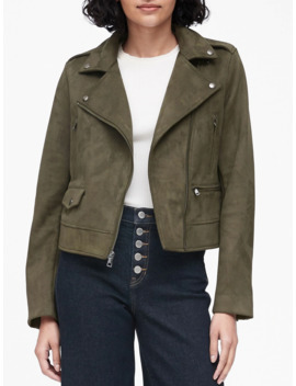 Vegan Suede Moto Jacket by Banana Republic