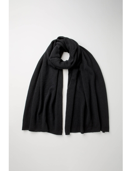 Black Gauzy Cashmere Stole by Johnstons Of Elgin