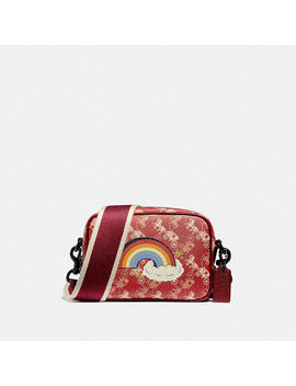 Camera Bag 16 With Horse And Carriage Print And Rainbow by Coach