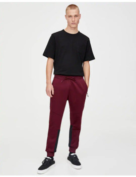Contrast Joggers by Pull & Bear