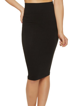 Midi Stretch Pencil Skirt by Rainbow