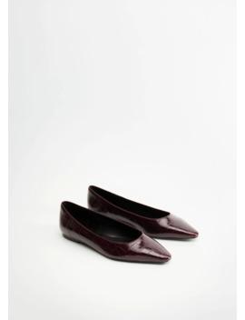 Buty Płaskie Z Noskiem by Mango
