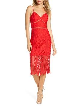 Roxy Sleeveless Lace Midi Dress by Bardot