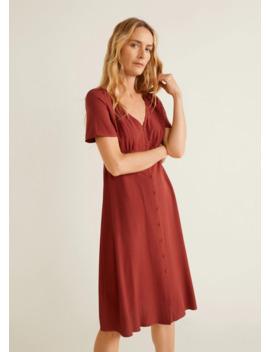Sukienka Z Marszczeniem by Mango