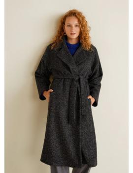 Płaszcz Z Paskiem by Mango