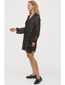 Sukienka Z Baloniastym Rękawem by H&M