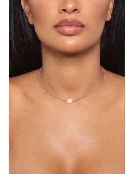 Mother Of Pearl Necklace   Gold by Fashion Nova
