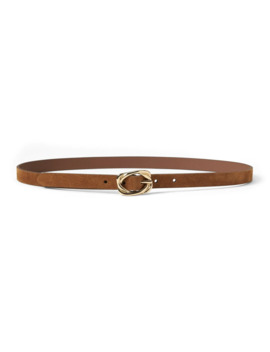 Suede Knot Buckle Skinny Trouser Belt by Banana Republic