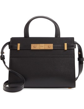 Nano Manhattan Leather Crossbody Bag by Saint Laurent