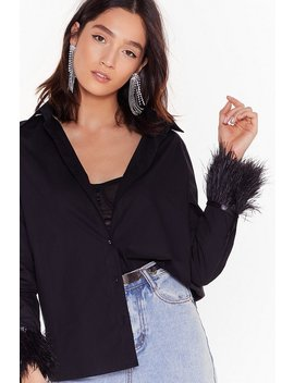 Feather Cuff Shirt by Nasty Gal