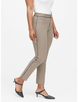 Curvy Sloan Skinny Fit Washable Pant With Piping by Banana Republic