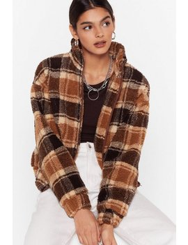 Checked Teddy Bomber by Nasty Gal