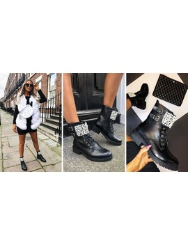 Beth Pearl Ankle Boots In Black by Cari's Closet