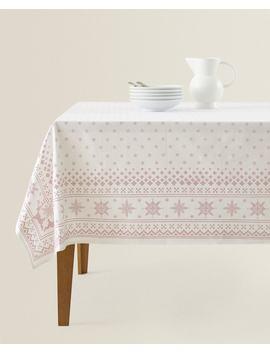 Tischdecke Mit Schneeflocken by Zara Home