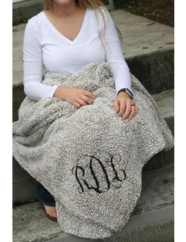 Monogrammed Sherpa Blanket,  Monogrammed Throw, Stadium Blanket, Gifts For Her, Christmas Gift, Sherpa  Blanket, Cheer, Football Blanket by Etsy