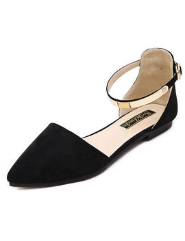 Women Pointed Toe Soft Sole Casual Slip On Flat Loafers   Black 6 by Banggood