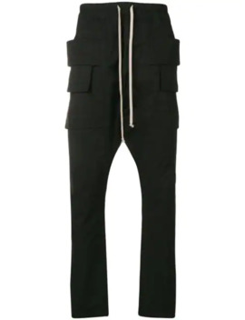 Drop Crotch Drawstring Trousers by Rick Owens Drkshdw