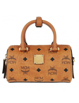 Boston Bowling Bag Cognac by Mcm