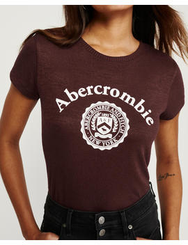 Cozy Short Sleeve Logo Tee by Abercrombie & Fitch