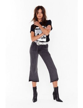 Seriously Don't Flare Cropped Denim Jeans by Nasty Gal