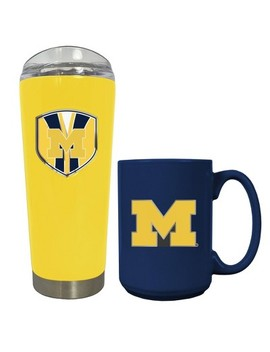 Ncaa Michigan Wolverines 20oz Tumbler & 15oz Mug Set by Ncaa