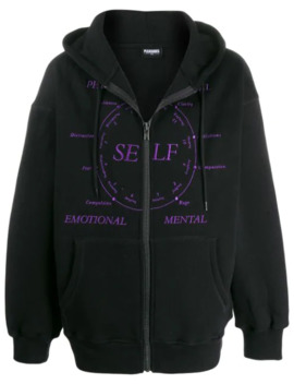 Clarity Embroidered Zip Up Hoodie by Pleasures