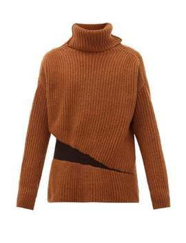 Elasticated Roll Neck Alpaca Wool Blend Sweater by Ann Demeulemeester