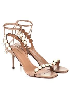 Mae 75 Embellished Leather Sandals by Aquazzura