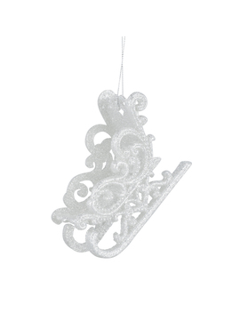 Christmas Hanging Silver Sleigh Decoration by The Range