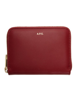 Red Maria Compact Wallet by A.P.C.