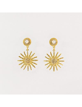 The Starburst Earrings In Gold The Starburst Earrings In Gold by Petit Moments