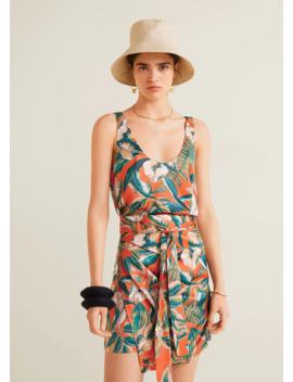 Tropical Print Minirock by Mango