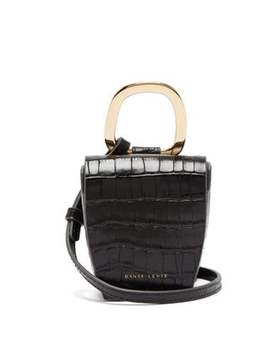 Pablo Crocodile Effect Leather Cross Body Bag by Danse Lente