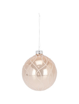 Blush White Swirl Bauble by The Range