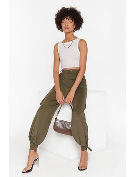 Tie To Forget High Waisted Cargo Pants by Nasty Gal