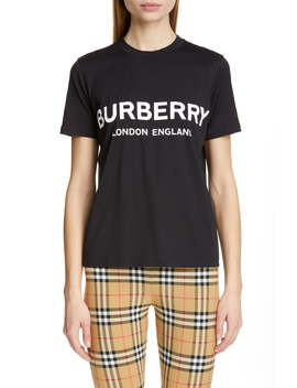 Logo Print Tee by Burberry