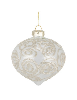 Clear Gold Swirl Bauble by The Range