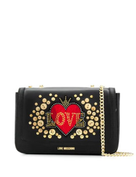 Logo Embellished Shoulder Bag by Love Moschino