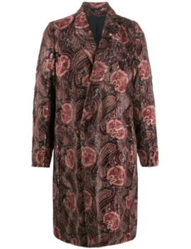 Cappotto Con Stampa Paisley by Ann Demeulemeester
