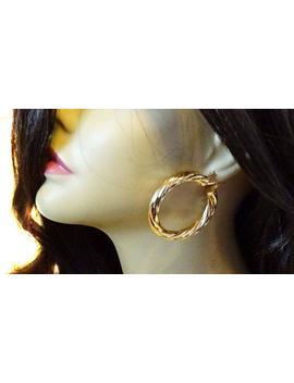 Silver Or Gold Plated Swirl Tube Hoop Earrings 2.25 Inch Hoop Earrings Twisted Pipe Hoops by Etsy