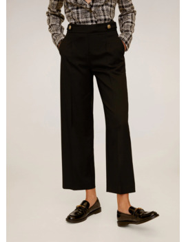 Pleated Culottes Trousers by Mango
