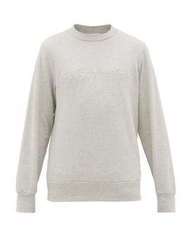 X Jjj Jound Logo Embossed Cotton Sweatshirt by Jjj Jound X A.P.C.