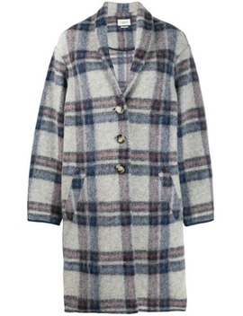 Oversized Plaid Coat by Isabel Marant Étoile