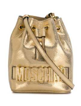 Laminated Bucket Bag by Moschino