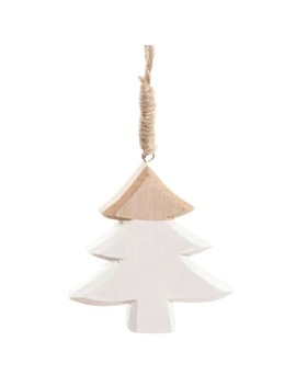 White And Natural Coloured Fir Hanging Christmas Decoration   Nature by Maisons Du Monde
